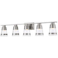 Ethos 5 Light 40 inch Brushed Nickel Vanity Wall Light