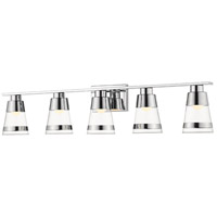 Z-Lite 1921-5V-CH-LED Ethos 5 Light 40 inch Chrome Vanity Wall Light