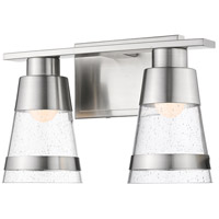 Ethos 2 Light 13 inch Brushed Nickel Vanity Wall Light