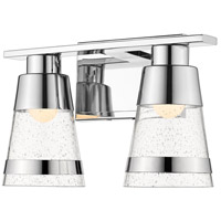 Z-Lite 1922-2V-CH-LED Ethos 2 Light 13 inch Chrome Vanity Wall Light