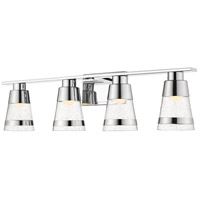 Z-Lite 1922-4V-CH-LED Ethos 4 Light 32 inch Chrome Vanity Wall Light