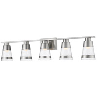 Z-Lite 1922-5V-BN-LED Ethos 5 Light 40 inch Brushed Nickel Vanity Wall Light