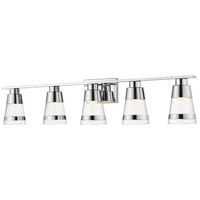 Z-Lite 1922-5V-CH-LED Ethos 5 Light 40 inch Chrome Vanity Wall Light