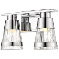 Z-Lite 1923-2V-CH-LED Ethos 2 Light 13 inch Chrome Vanity Wall Light