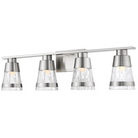 Z-Lite 1923-4V-BN-LED Ethos 4 Light 32 inch Brushed Nickel Vanity Wall Light