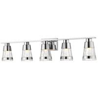 Z-Lite 1923-5V-CH-LED Ethos 5 Light 40 inch Chrome Vanity Wall Light