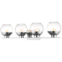 Z-Lite 1924-4V-CH-LED Osono 4 Light 33 inch Chrome Vanity Wall Light