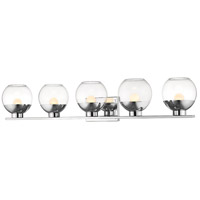 Osono 5 Light 41 inch Chrome Vanity Wall Light