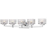 Z-Lite 1927-5V-CH Rubicon 5 Light 36 inch Chrome Vanity Wall Light