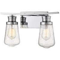 Z-Lite 1928-2V-CH Gaspar 2 Light 16 inch Chrome Vanity Light Wall Light
