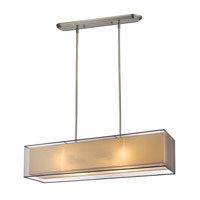 Z-Lite Sedona 4 Light Island Light in Brushed Nickel 193-45BK-C