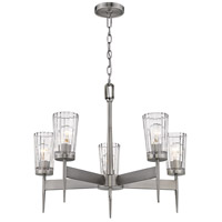 Z-Lite 1932-5AN Flair 5 Light 26 inch Antique Nickel Chandelier Ceiling Light