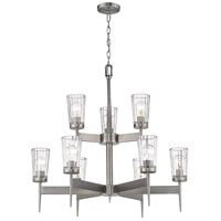 Z-Lite 1932-9AN Flair 9 Light 31 inch Antique Nickel Chandelier Ceiling Light
