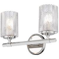 Z-Lite 1934-2V-PN Dover Street 2 Light 14 inch Polished Nickel Vanity Wall Light
