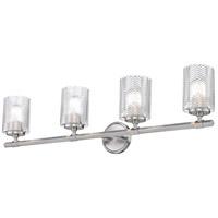 Z-Lite 1934-4V-BN Dover Street 4 Light 33 inch Brushed Nickel Vanity Wall Light