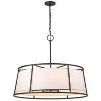 Z-Lite 1935-32IO Lenyx 8 Light 32 inch Iron Ore Pendant Ceiling Light