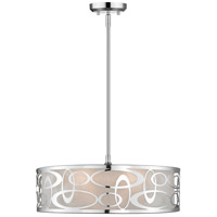 Z-Lite 195-20CH Opal 4 Light 20 inch Chrome Pendant Ceiling Light