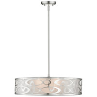 Z-Lite 195-26BN Opal 5 Light 26 inch Brushed Nickel Pendant Ceiling Light