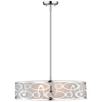 Z-Lite 195-26CH Opal 5 Light 26 inch Chrome Pendant Ceiling Light