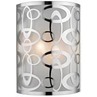 Chrome Steel Opal Wall Sconces