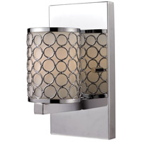 Z-Lite Synergy 1 Light Wall Sconce in Chrome/Matte Opal 199-1S