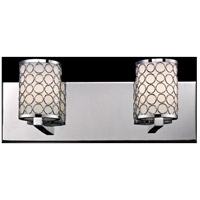 Z-Lite Synergy 2 Light Vanity in Chrome/Matte Opal 199-2V