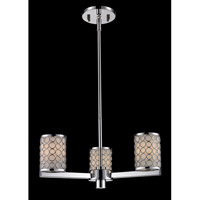 Z-Lite Synergy 3 Light Chandelier in Chrome/Matte Opal 199-3