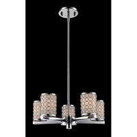 Z-Lite Synergy 5 Light Chandelier in Chrome/Matte Opal 199-5