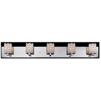 Z-Lite 199-5V Synergy 5 Light 39 inch Chrome Vanity Light Wall Light