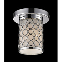 Z-Lite Synergy 1 Light Flush Mount in Chrome/Matte Opal 199F-1