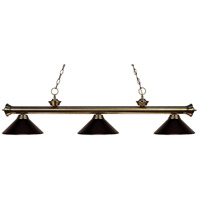 Riviera 3 Light 57 inch Antique Brass Island Light Ceiling Light in Bronze Metal