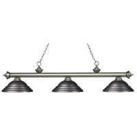 Z-Lite 200-3AS-SOB Riviera 3 Light 59 inch Antique Silver Island Light Ceiling Light in Stepped Olde Bronze