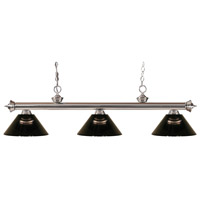 Riviera 3 Light 57 inch Brushed Nickel Island Light Ceiling Light in Acrylic Smoke