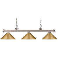 Brushed Satin Nickel Steel Island Lights
