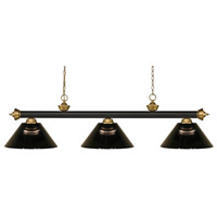 Z-Lite 200-3BRZ+SG-ARS Riviera 3 Light 57 inch Bronze and Satin Gold Island/Billiard Ceiling Light in Smoke Acrylic 10.65