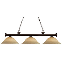 Riviera 3 Light 59 inch Bronze Island Light Ceiling Light in Golden Mottle