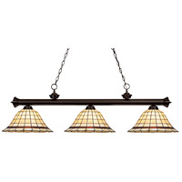 Z-Lite Riviera Bronze 3 Light Billiard/Island in Bronze 200-3BRZ-Z14-5