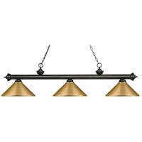 Z-Lite 200-3GB-MSG Riviera 3 Light 57 inch Golden Bronze Island Light Ceiling Light