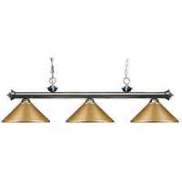 Z-Lite 200-3GM-MSG Riviera 3 Light 57 inch Gun Metal Island/Billiard Ceiling Light