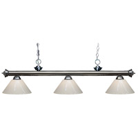 Z-Lite Riviera 3 Light Island Light in Gun Metal 200-3GM-PWH