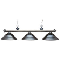 Riviera 3 Light 59 inch Gun Metal Billiard Light Ceiling Light in Stepped Gun Metal