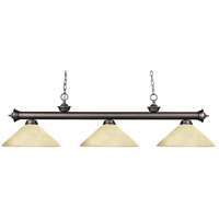 Riviera 3 Light 57 inch Olde Bronze Island Light Ceiling Light in Golden Mottle Angular