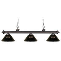 Riviera 3 Light 57 inch Olde Bronze Island Light Ceiling Light in Acrylic Smoke