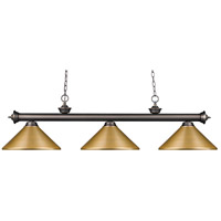 Riviera 3 Light 57 inch Olde Bronze Island Light Ceiling Light