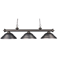 Riviera 3 Light 59 inch Olde Bronze Island Light Ceiling Light in Olde Bronze Metal