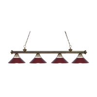 Z-Lite Riviera 4 Light Island Light in Antique Brass 200-4AB-RDW