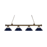 Z-Lite Riviera 4 Light Island Light in Antique Brass 200-4AB-RNB