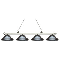 Z-Lite 200-4AS-SGM Riviera 4 Light 82 inch Antique Silver Island Light Ceiling Light in Stepped Gun Metal