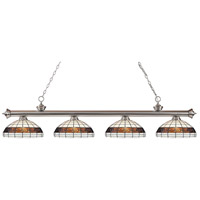 Z-Lite Riviera 4 Light Island Light in Brushed Nickel 200-4BN-F14-1