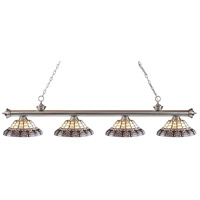 Z-Lite Riviera 4 Light Island Light in Brushed Nickel 200-4BN-H14-4